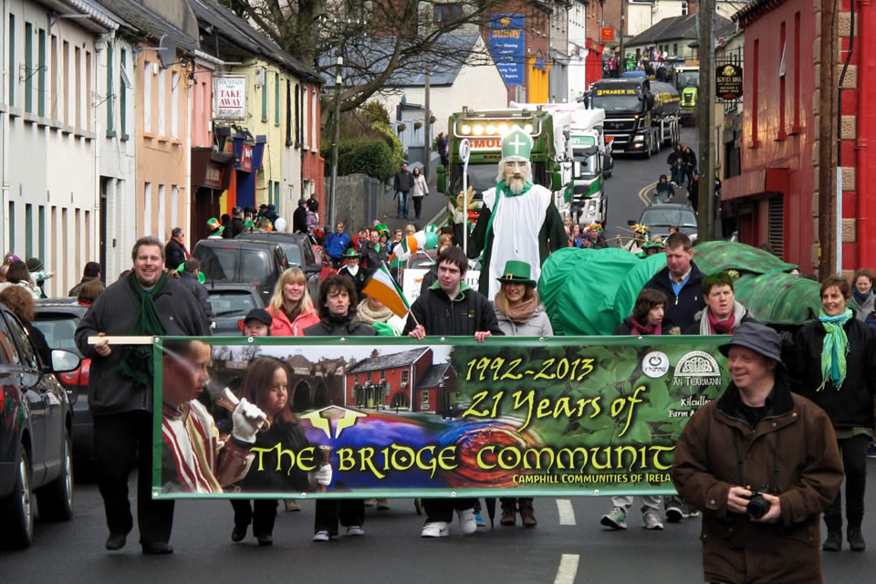 Taking part in Kilcullen's St. Patrick's Parade